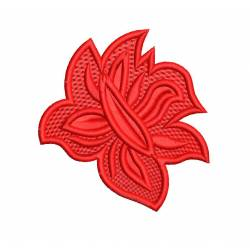 Lady Clutch Red Flower Embroidery Design