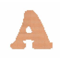 Latter A Cross Stiches Embroidery Design