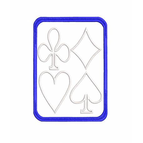 Playing Cards Symbols Outline Embroidery