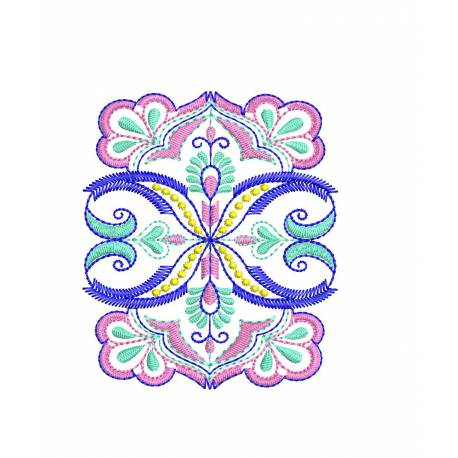 4x4 Indian Floral Machine Embroidery Design