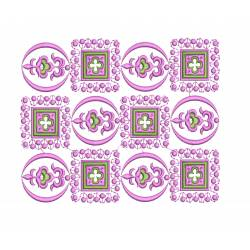 8x10 Flat Floral Embroidery For Cushion Covers