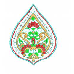 5x7 New Indian Butta Embroidery Design@
