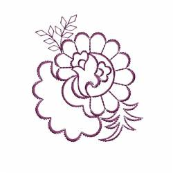 New Floral Outline Embroidery For Kitchen's Towels
