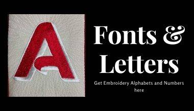Fonts and Alphabets Embroidery Designs
